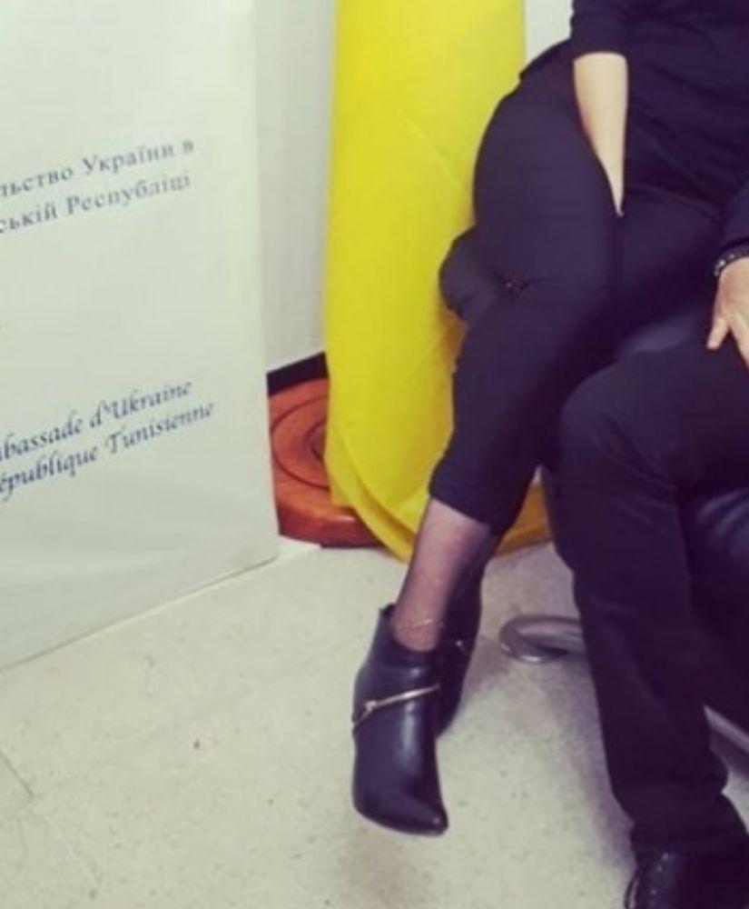 Bottines noires avec zip doré