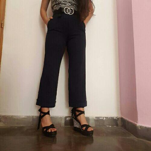 Pantalon large bleu nuit