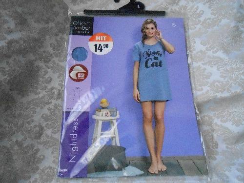 Chemise de nuit courte importé de Suisse 100% coton valeur 45d