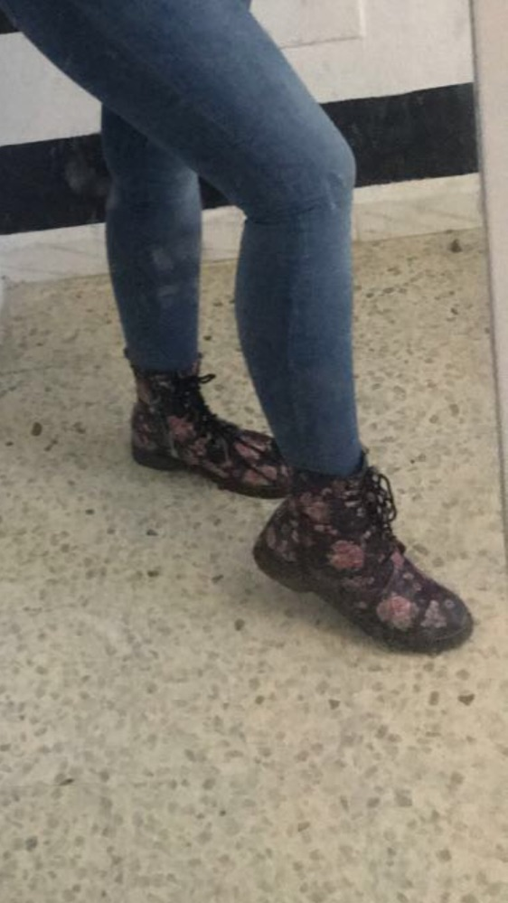 Chaussure fleuries