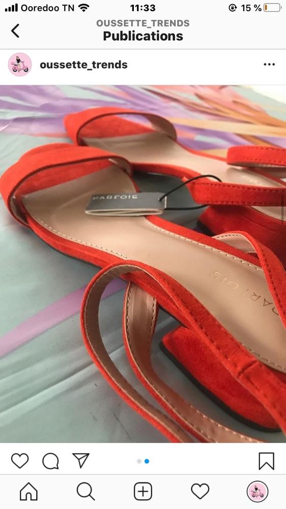 Sandales talon carré