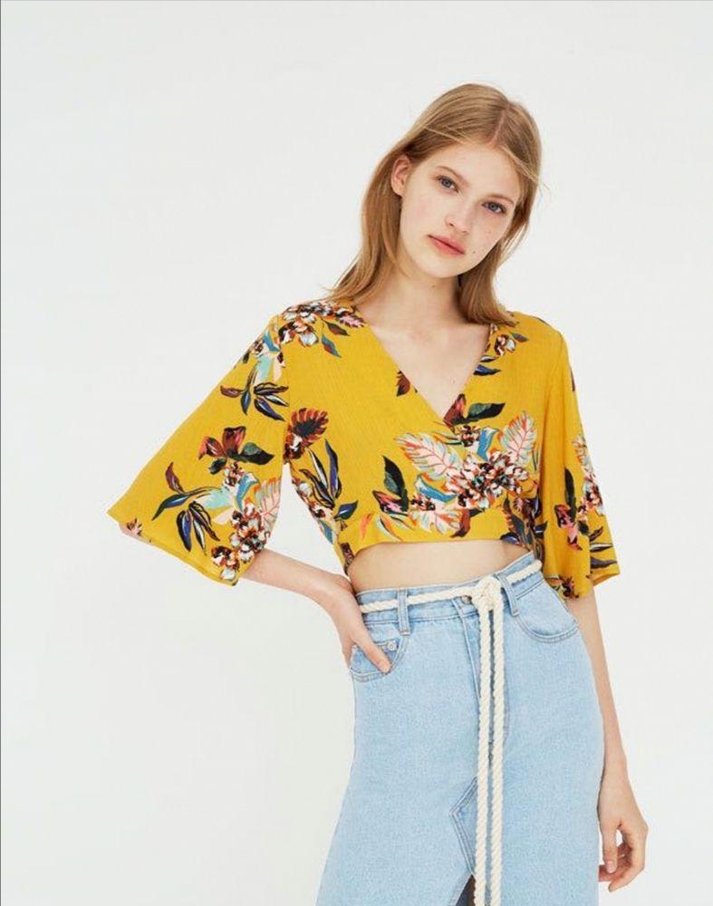 Ensemble top et pantalon fleuri