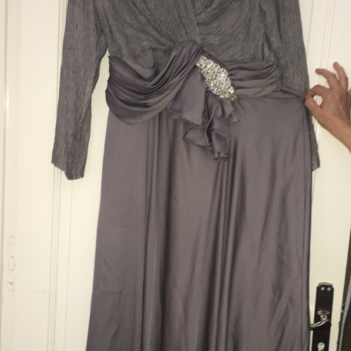Robe croise gris argent