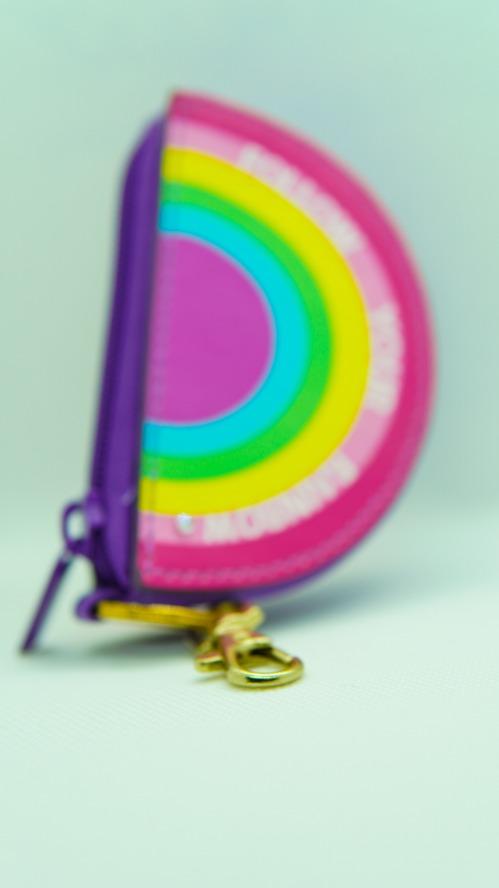 Porte-monnaie à clip violet « Follow Your Rainbow »
